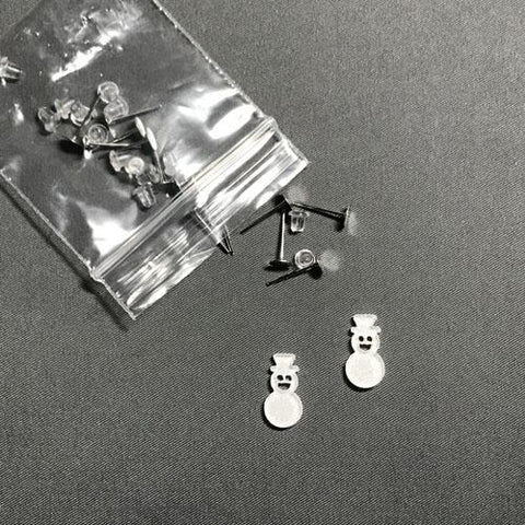 Snowman DIY Acrylic Earrings - CraftChameleon