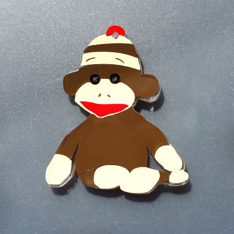 Sock Monkey Acrylic Blank Shape