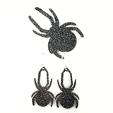 Spider Acrylic Shaped Earrings or Pin by VMC ~ Set of 10 Earrings (5 pairs) or 1 Pin