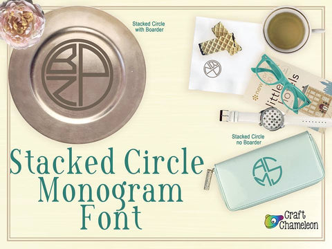 Stacked Circle Monogram ~ Monogram Font