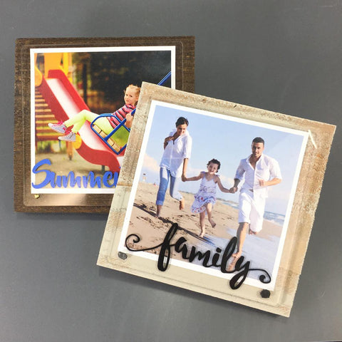 Acrylic & Wood Photo Set - CraftChameleon