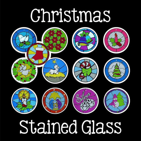 Christmas Stained Glass Digital Designs