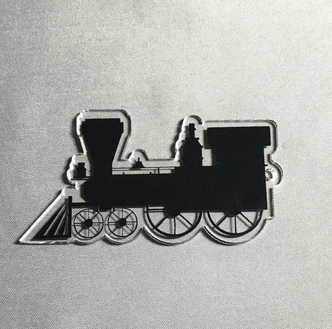 Steam Engine Train Acrylic Shape - CraftChameleon