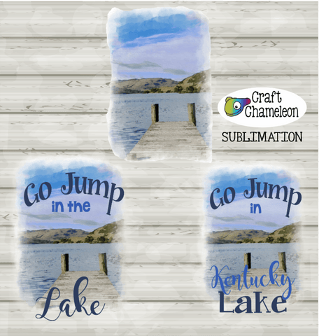 Lake Sublimation Digital Design