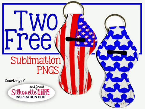American Flag Lip Balm Holder Sublimation Design Only