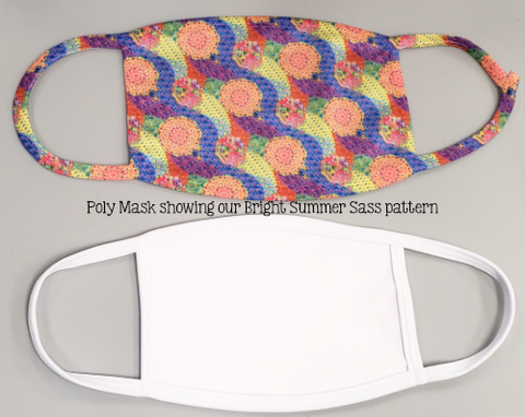 Polyester Sublimation Mask - 3 Sizes Plus Sublimation Print or Digital Print