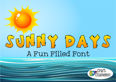 Sunny Days Font - A Fun Filled Font