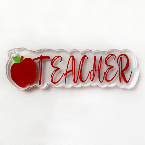 Teacher Word Art Shaped Acrylic