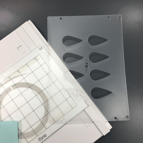 Tear Drop 2 inch Template for Etching - CraftChameleon