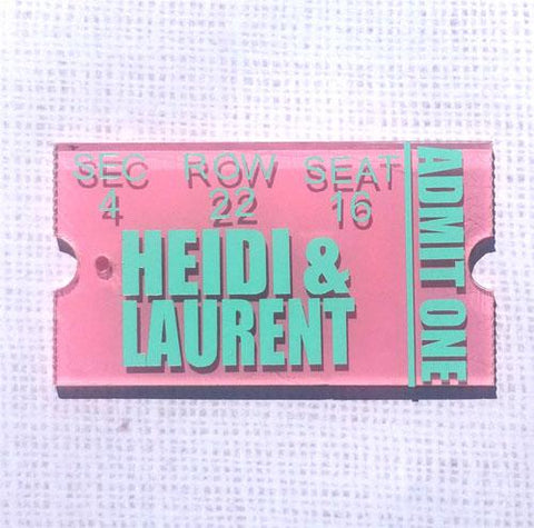 Ticket Acrylic Shape - CraftChameleon