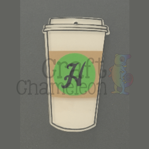 Acrylic Travel Coffee Cup Shape - CraftChameleon  - 1