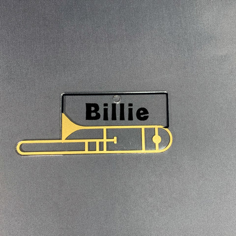 Trombone with Monogram Area Acrylic Shape
