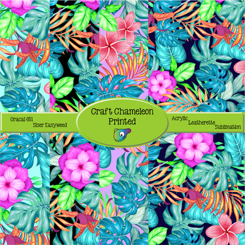 Tropical ~ Leon's Pattern ~ Vinyl, Leatherette, HTV, Acrylic, Sublimation