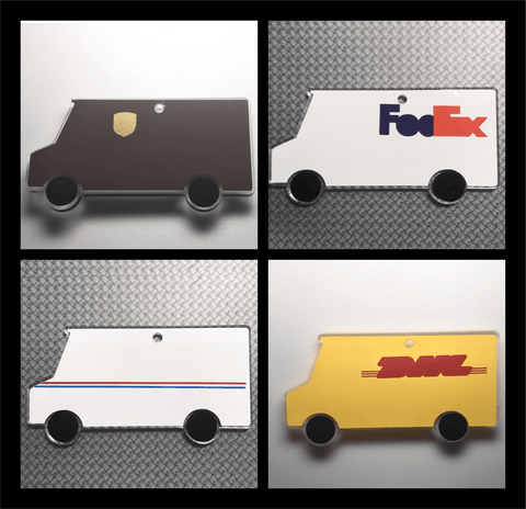 Delivery Truck Acrylic Shape - CraftChameleon