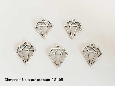 Diamond Shaped Charms - CraftChameleon