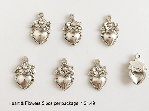Heart and Flower Charms - CraftChameleon