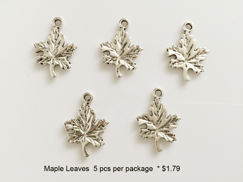 Maple Leaf Charms - CraftChameleon  - 1