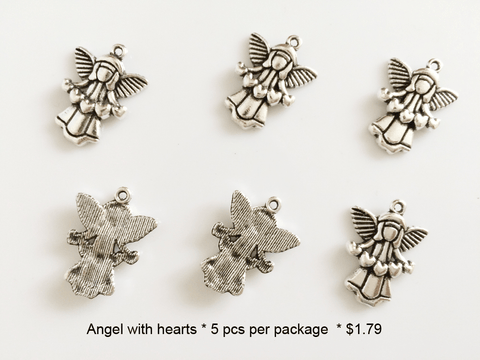 Angel with Hearts Charms - CraftChameleon