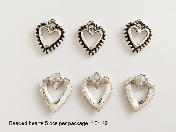 Beaded Heart Charms - CraftChameleon