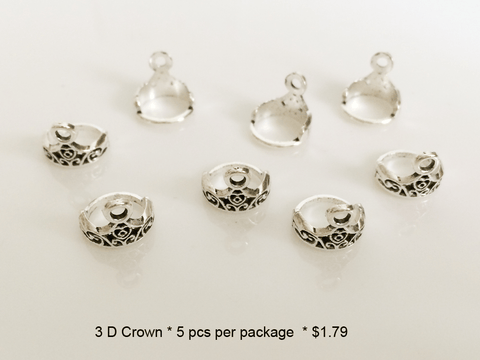 3D Crown Charms - CraftChameleon