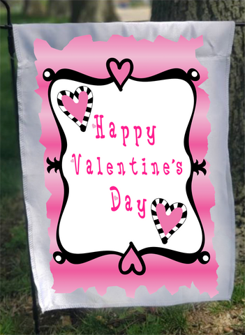 Valentine Flag Sublimation Digital Design