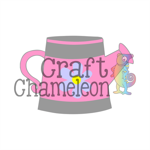 Watering Can Digital Design - CraftChameleon