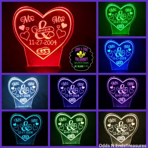 Wedding Anniversary Heart Light Base Design by ONE Designs DESIGN ONLY