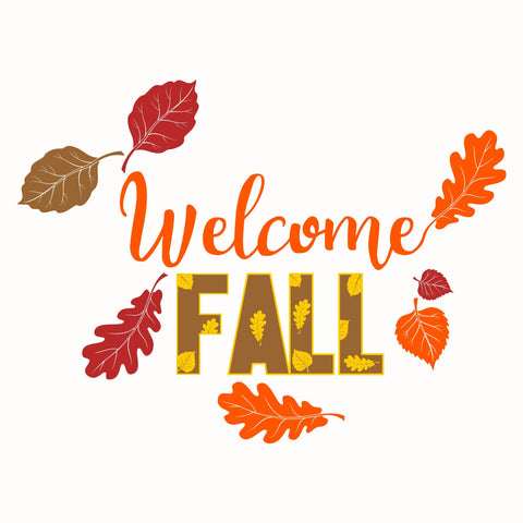 Welcome Fall Wordart Digital Design