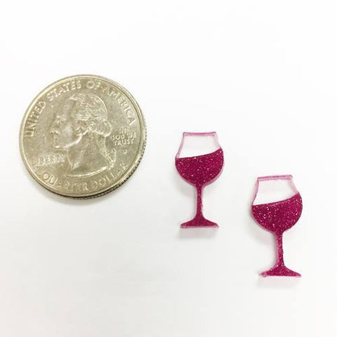 Wine Glasss DIY Acrylic Earrings
