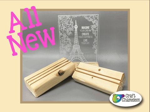 Wooden Block Display and Acrylic Blank Kit