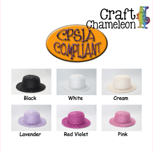 Set of 5 ~ Mini Woven Hats - CraftChameleon
