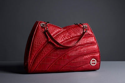 Empress Red Alligator Skin Bag