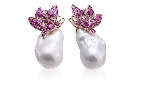 Butterfly Baroque Studs