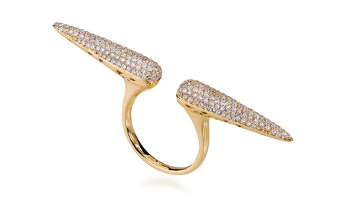 Diamond Double Cone Ring
