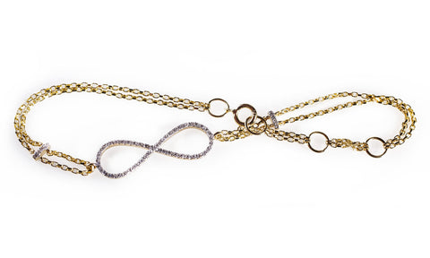 Infinity Diamond Double Bracelet