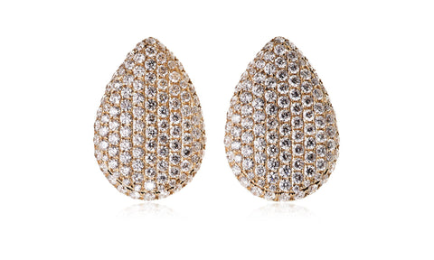Diamond Rain Drop Studs