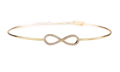 Infinity Diamond Bangle