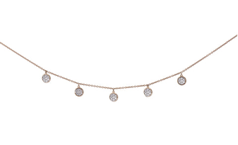 Large Floating Diamond Choker