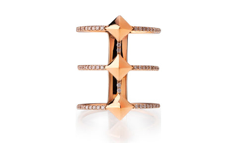 Triple Pyramid Ring