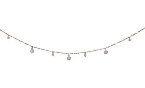 Small & Large Floating Diamond Choker