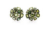 Green Bouquet Button Earstuds