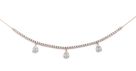 Teardrop Diamond Chokers