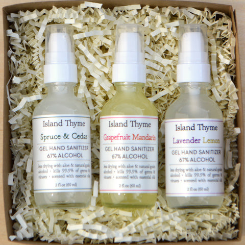 Natural Hand Sanitizer Trios