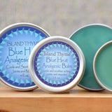 Island Thyme Blue Heat Analgesic Balm for sore muscles