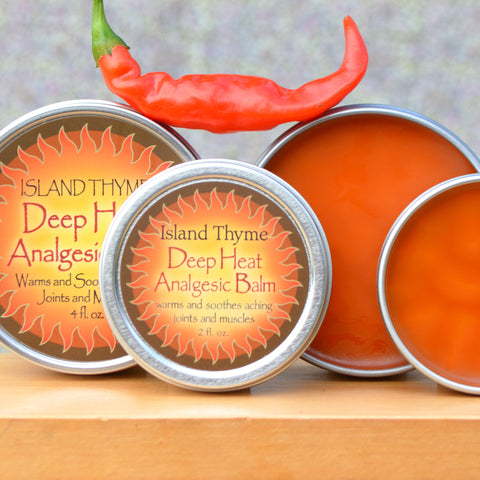 Island Thyme Deep Heat Balm for sore joints and muscles
