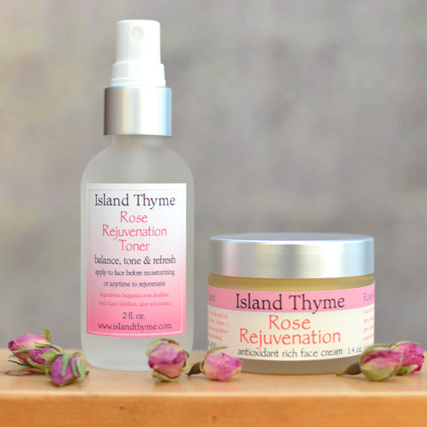 Rose Rejuvenation Face Cream & Toner Sets