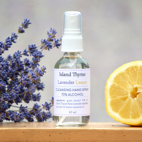Lavender Lemon <br>70% Alcohol Hand Cleansing Spray