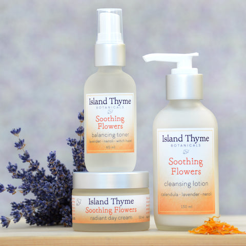 Soothing Flowers Face Care Trio (neroli lavender)