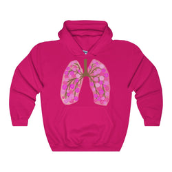 65 Roses Lungs Heavy Blend Hooded Sweatshirt
