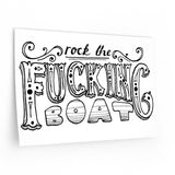 Rock the Fucking Boat Wall Decals